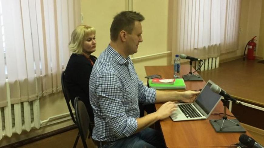 Навального оставили под подпиской оневыезде изКирова