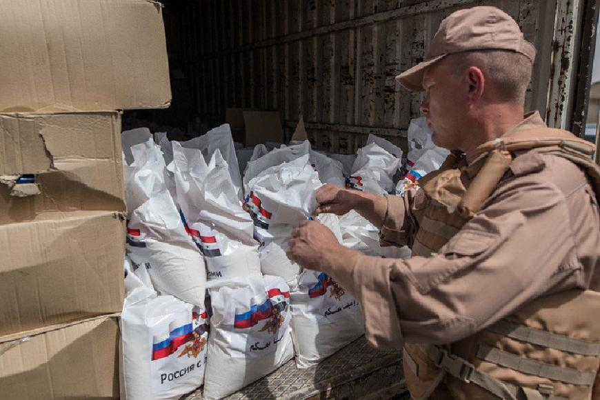 ВКСРФ доставили гуманитарную помощь насевер провинции Хомс